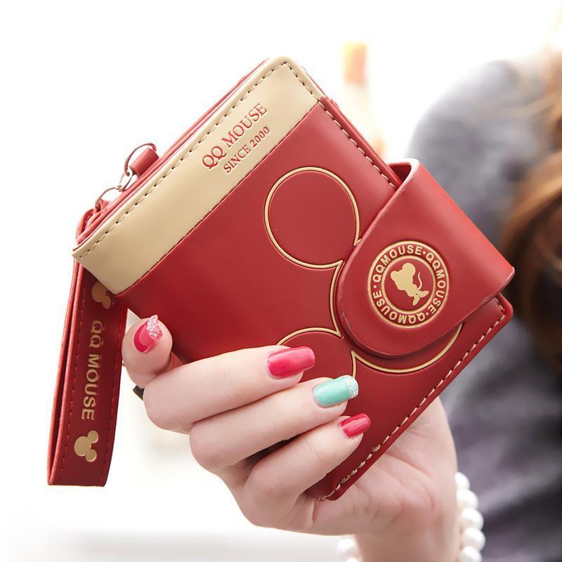2015新款韩版卡通短款钱包女式拉链学生可爱钱夹多卡位两折零钱包mx