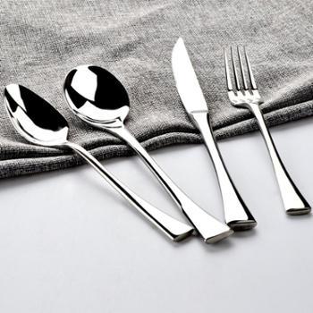 欧圣美 304不锈钢西餐餐具套装 牛排刀叉勺 四支装 M-6060