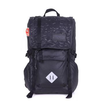 【12期免息】JANSPORT 杰斯伯 男女款双肩背包校园休闲包书包 2T2Z0T4黑色