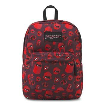 JANSPORT 杰斯伯 男女款双肩背包校园休闲包书包 3P1G52W超人家庭图标红