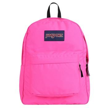 【12期免息】JANSPORT 杰斯伯 男女款双肩背包校园休闲包书包 T5010R4蜜糖粉