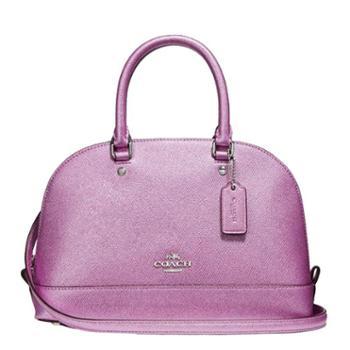蔻驰(COACH)女包 女士小号贝壳包 单肩包 斜挎包 手提包 F22315 淡紫色(SVMP3)