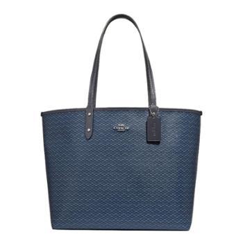 蔻驰(COACH) 女包 女士双面子母包 托特包 单肩包 手提包 F34263 蓝色SV/NV