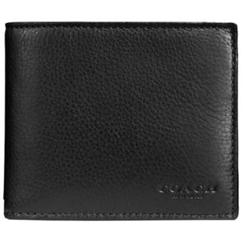 COACH 蔻驰 男士男包 钱夹 皮夹 短款 钱包 黑色F74991