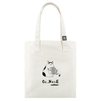 玛汀斯 猫和鱼 帆布包 帆布袋 托特包 单肩包 手提包 女包 升级款M8106W