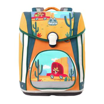 玛汀斯(Materns)小汽车 小学生男女儿童书包1-3-5-6年级减负护脊卡反光通双肩背包