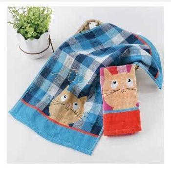 金号儿童纱布毛巾一条透气柔软长方形童巾