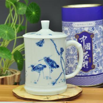 诚德轩景德镇陶瓷茶具手绘茶杯办公水杯路路连升