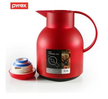 美国康宁家用保温壶密封热水瓶保温瓶进口玻璃内胆1L小容量