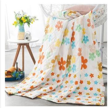 迎馨 床品家纺 可水洗夏凉被 亲肤透气空调被子 单人150*210cm 春暖花开