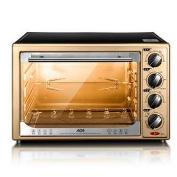 北美电器(ACA)电烤箱家用多功能烘焙 32L香槟金高配款 BCRF32