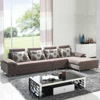 早晨家居 客厅家具 休闲沙发 时尚转角组合型布艺沙发 632Q 左贵妃