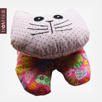 朵慕家纺-猫猫鼠标手腕垫功能玩具布艺娃娃公仔花布玩偶纺织