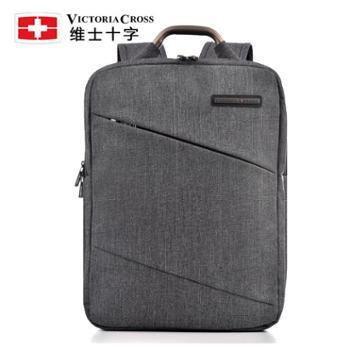 维士十字双肩包男15.6寸商务手提电脑包简约男士背包中学生书包 VC3008-LE6804