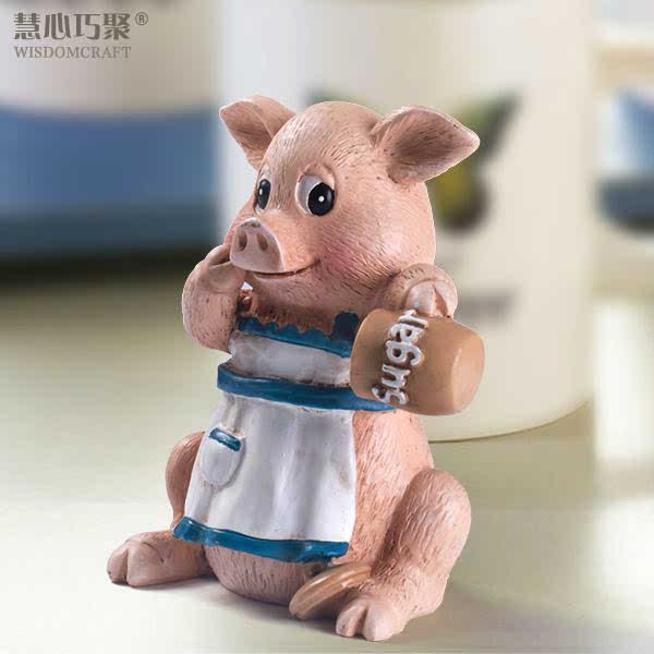 慧心巧聚特惠促销纯手工时尚创意礼品迷你厨房小猪/个