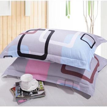 洁帛格调心情 斜纹印花枕套 成人信封式枕套 (一对)