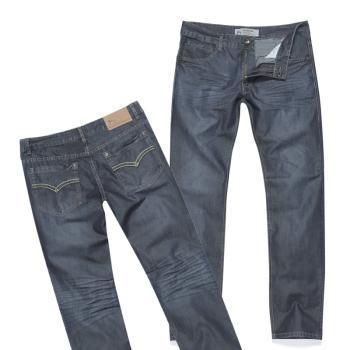 东方骆驼2013春季新品男装款式直筒合体户外休闲牛仔裤