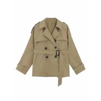 外衣女中长款小个子风衣流行百搭宽松秋款矮个子外套潮