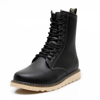 斯加艇小码男靴37码 皮靴工装靴男靴 时尚休闲雪地靴 真皮工装靴7822J