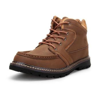 mizzu新款男鞋男士真皮靴子真皮休闲男靴