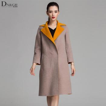 dngr2015新款 翻领双排扣 纯手工双面羊绒C16042
