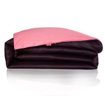 科罗娜家纺床上用品素色双拼全棉活性印花纯棉纯色被套被罩单件单人双人