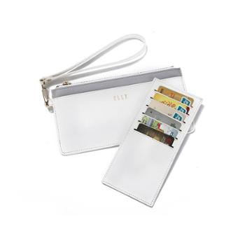 YHGELLE(她)长款便携卡包/手拿包90010白色