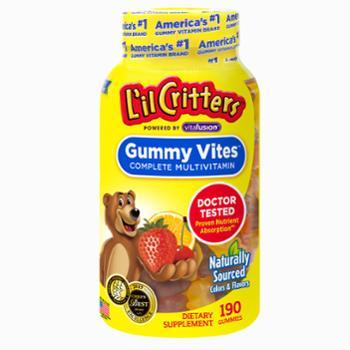 L'ilCritters小熊糖熊宝宝多种复合维生素软糖190粒