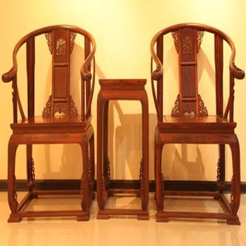 木头记 红木家具 老挝红酸枝皇宫椅三件套