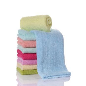 34*76cm居家日用素色面巾公司福利定制纯棉礼品毛巾成人情侣款吸水速干纯色柔软毛巾