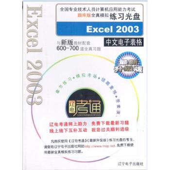 Excel2003中文电子表格(模拟练习光盘)