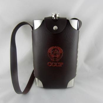 俄罗斯特大酒壶64oz不锈钢酒壶 巨型64盎司带皮套 HYD-6401