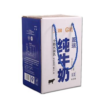 天润盖瑞纯牛奶全脂灭菌乳200g*18盒/箱