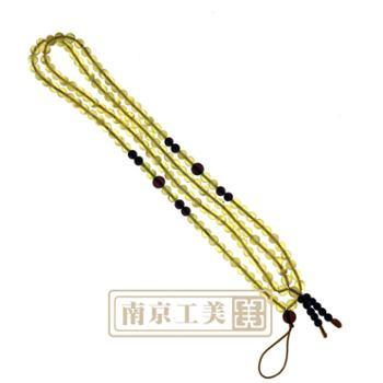 【工美】4mm纯天然琥珀蜜蜡项链挂绳 毛衣项链老蜜蜡真品包邮