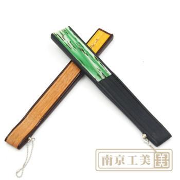 女士绢面花折扇礼品中国特色古典工艺扇子(20cm)