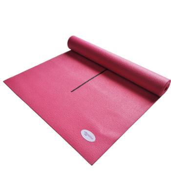 爱玛莎瑜伽垫 防滑 加长瑜伽垫初学专用 瑜伽毯IM-YJ01送瑜伽网袋 PVC粉红 无味无毒瑜伽垫