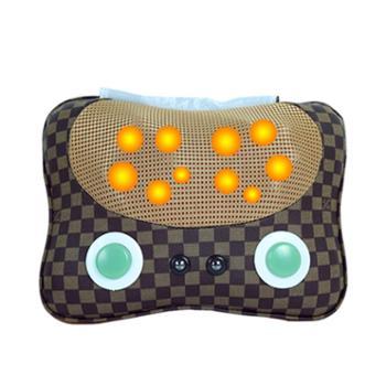 狮傲康SAK-D818A颈椎按摩器 颈部 腰部 肩部按摩枕 按摩靠垫 苹果形状按摩靠垫枕