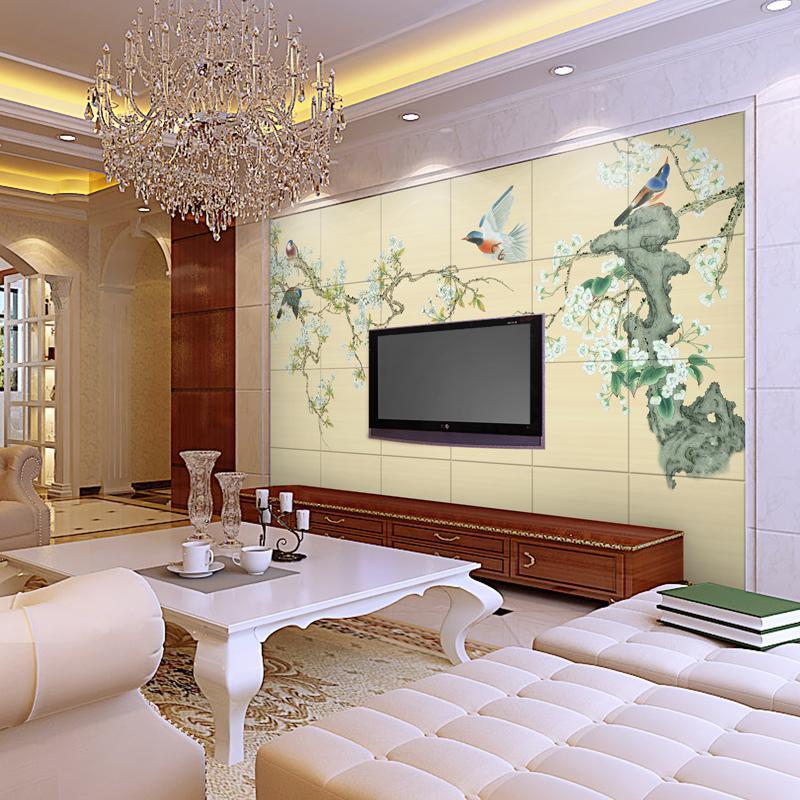 瓷砖背景墙 客厅电视背景墙瓷砖壁画