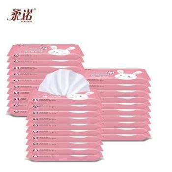 柔诺湿巾10片装40包湿巾宝宝专用湿纸巾