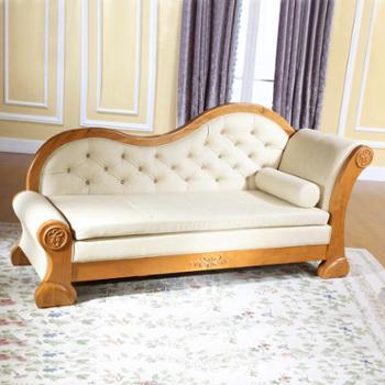 简约实木懒人贵妃椅沙发躺椅卧室