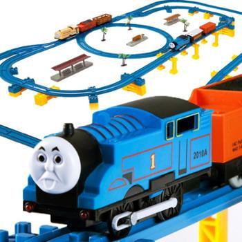 托马斯双车头高架桥轨道火车儿童玩具w038