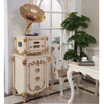 美人蕉留声机 F5 白+金 金色喇叭(B型号)
