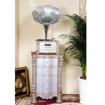 美人蕉留声机 1912 珍珠白 银色喇叭(B型号)