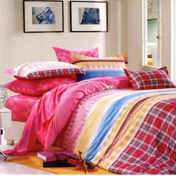 [情人恰恰厂家直销】活性印花床上用品四件套1.8米床适合220cm*240cm