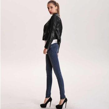 2015春新款女式小脚铅笔显瘦修身牛仔裤