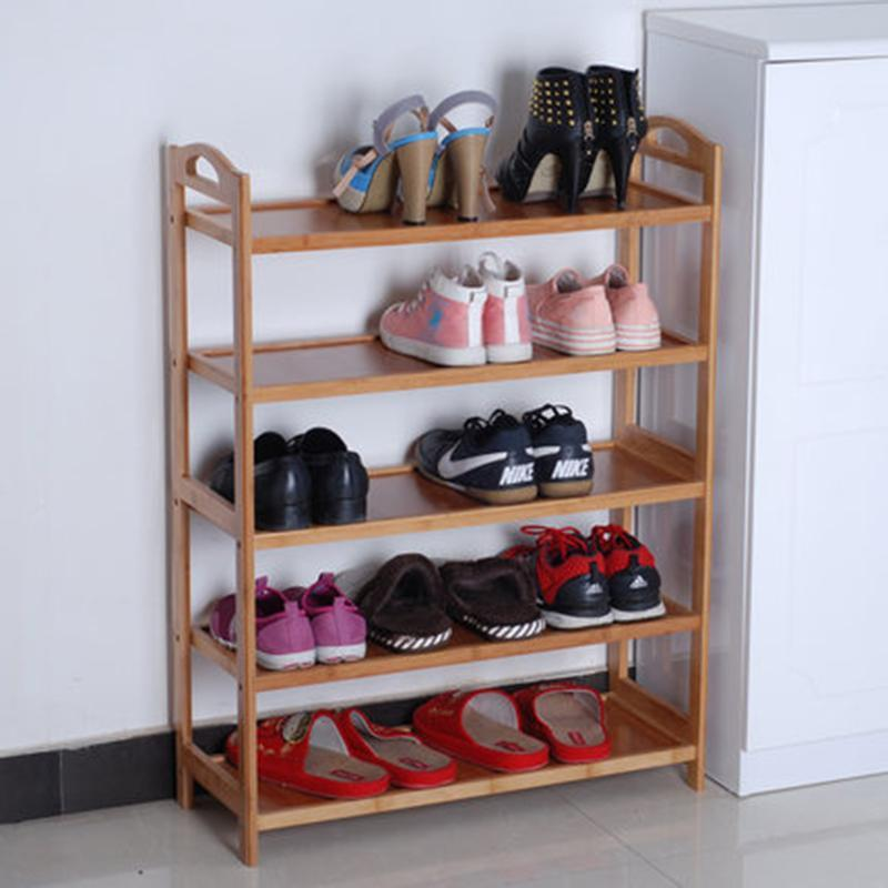 简易竹木鞋架防尘鞋柜收纳竹鞋架竹子鞋架子立式宜家