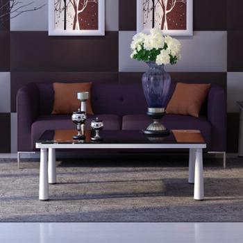 杰希家具 双人休闲沙发床 亚麻可拆洗沙发 现代简约小户型 浪漫生活设计 浪漫紫色