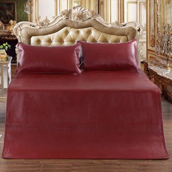 520家纺时尚家纺双人床席子牛皮凉席盛夏奢华牛皮席三件套