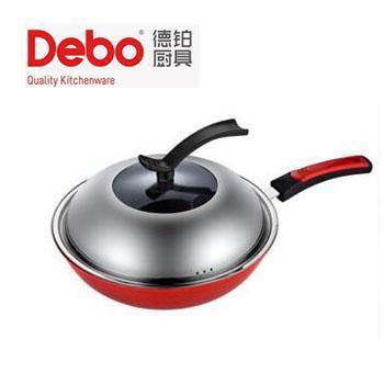 德铂/Debo DEP-272 希勒铸铁锅少油烟不粘炒锅 燃气煤气电磁炉通用32cm