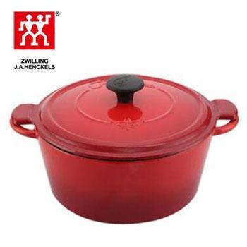 双立人/TWINIVIGL Fontignac ML 红色铸铁锅 炖锅养生锅 SA-P008 24cm